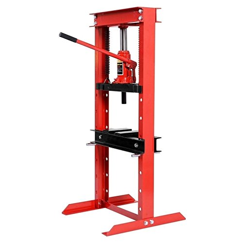 """Moon Daughter 51"""" 12 Ton Shop Press Floor H-Frame Press Plates Hydraulic Jack Stand Equipment"""