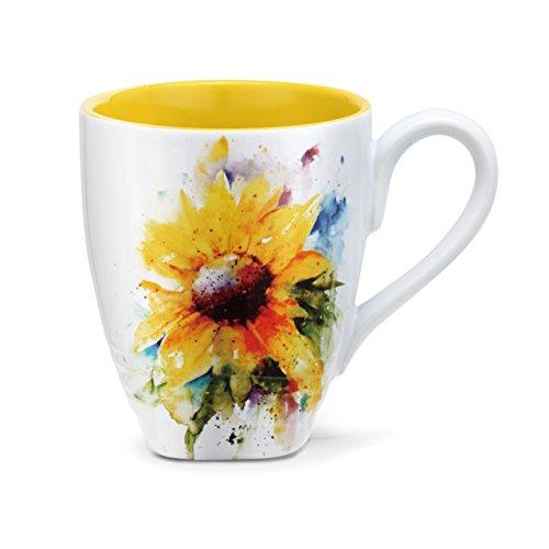 Demdaco 3005050982 Big Sky Carvers Sunflower Mug, Multicolored