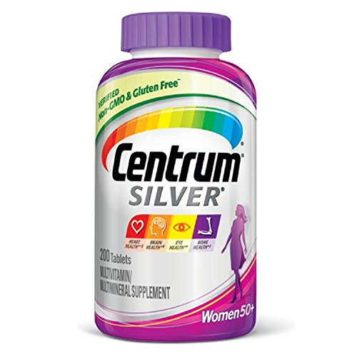 Centrum Silver Women (200 Count) Multivitamin / Multimineral Supplement Tablet, Vitamin D3, Age -