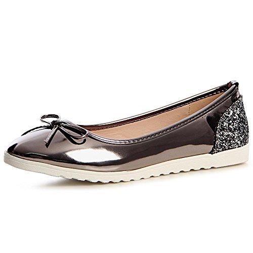 Ballerines 753 Topschuhe24 Femmes Argent Gris Chaussures d7cqrct