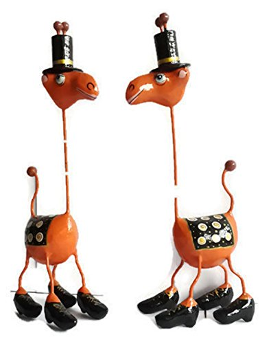 Handmade Paper Mache Animal Décor Camel Figurine - Thailand (2 in a set) (Mexican Halloween Face Paint)
