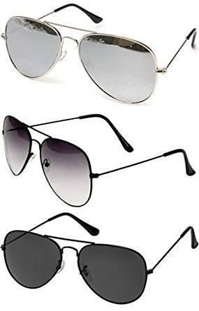 4c238951724 Sheomy Combo Set Of 3 Uv Protected Aviator Unisex Sunglasses(3In1 ...
