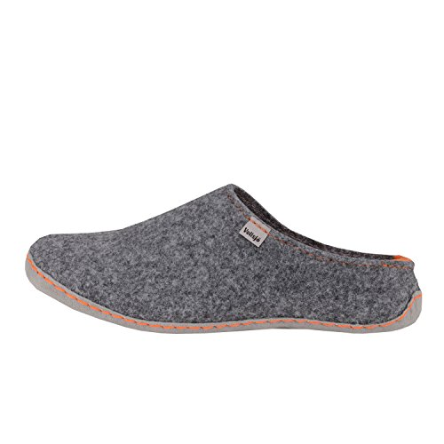 Low Handmade Women's Vollsjo Slippers House Grey Felt orange Vegan in EU nSfxxX8wHq