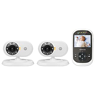 Motorola MBP25-2 Wireless 2.4 GHz Video Baby Monitor with 2.4-Inch Color LCD Screen and Two Cameras