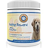 Premium Omega 3 Chew Treats For Dogs | All Natural Fish Oil For Dogs | Best Skin & Coat Support to Reduce Shedding & Itching | Rich In Omega 3 6 9 For Dogs | Anti-Inflammatory | 90 Bacon Flavor Treats