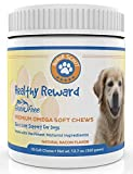 omega 3 6 9 for dogs - Premium Omega 3 Chew Treats For Dogs | All Natural Fish Oil For Dogs | Best Skin & Coat Support to Reduce Shedding & Itching | Rich In Omega 3 6 9 For Dogs | Anti-Inflammatory | 90 Bacon Flavor Treats