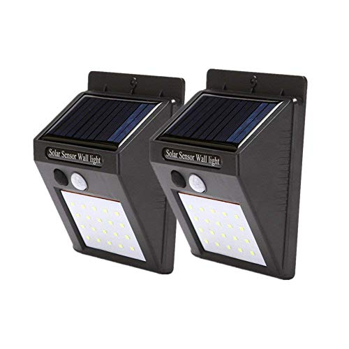 Waterproof Motion Sensor Wall Lights ,LED Outdoor Solar Light,2 PACK Motion Detector Lamp Outdoor Solar Lamp,Automated Switch for Yard Garden Driveway Pathway, Outside Solar Panel,Solar Porch Light by JUNFEI