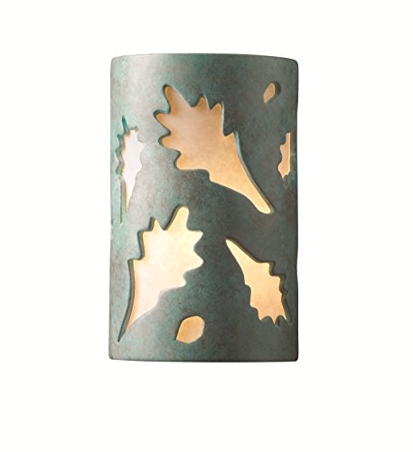 Patv Verde Patina Ceramic - Justice Design Group Ambiance Collection 2-Light Wall Sconce - Verde Patina Finish