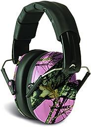 Walkers Game Ear GWP-FPM1-PKMO Walker's Low Profile Folding Muff () Pink Mossy Oak Camouf