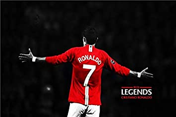 online store b033c bc292 Generic Custom Canvas Prints Cristiano Ronaldo Poster Red ...