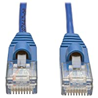 Tripp Lite Cat5e Snagless Molded Slim UTP Patch Cable (M/M), RJ45,  Blue, 4 ft. (N001-S04-BL)