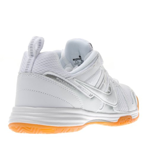 s Multicourt 10 voleibol de zapatos blanco / goma de color marrón claro / blanco WHITE/GUM LIGHT BROWN/WHITE