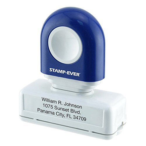 Pre Inked Address Stamp (Stamp-Ever Custom Address Stamp, Up to 3 Lines of Text, Up to 25 Characters per Line, Choose from 5 Ink Colors, Pre-Inked 3/4