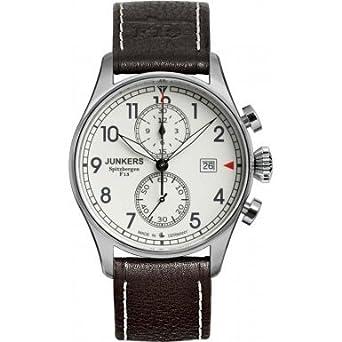 Junkers 6178-5 braunes Lederarmband Chronograph