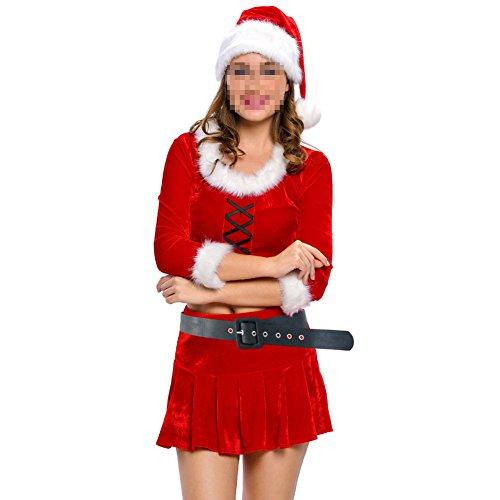 [Lifeisbest Women Adult Sexy Ms. Santa Costume(S£¨4-6))] (80s Singers Costumes)