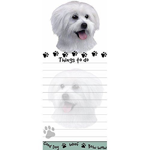 [Maltese Puppy Tall Magnetic Notepad] (Maltese Dog Costumes)