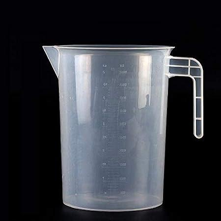 Kentop Vaso de Medir Transparente con Escala Taza para Medir (5000ml)