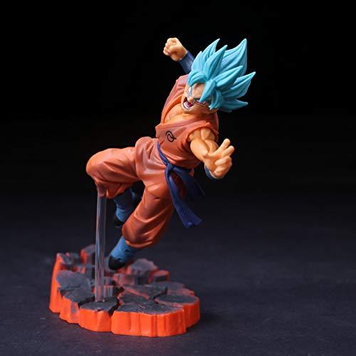 PampasSK Action & Toy Figures - Dragon Ball Z Battle Ver. Golden Cell & Son Goku Statue Figure Model Toys 1 PCs (Figure Trophy Gold)