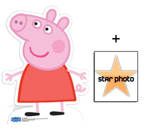 Fan Pack - Peppa Pig Lifesize Cardboard Cutout / Standee - Includes 8X10 (25X20Cm) Star Photo