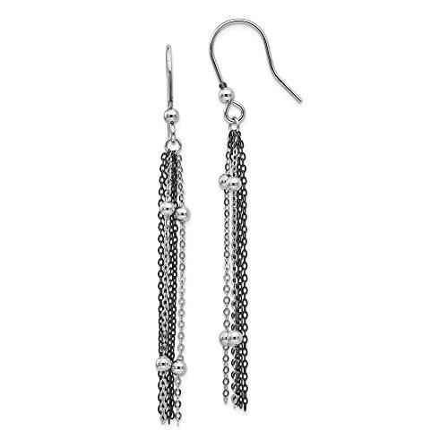 (Sruthenium Plated Beaded Drop Dangle Chandelier Shepherd Hook Earrings Fashion Jewelry Gifts For Women For Her)