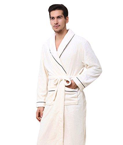 Genda 2Archer Albornoces de Algodón Para Hombres y Mujeres Ropa de Baño Pijamas de Amante Hombres
