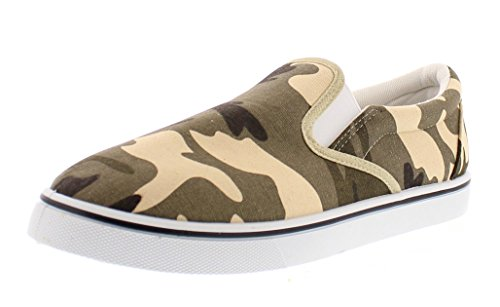 Gold Toe Doug Mens Slip On Shoes Casual,Memory Foam Sneakers for Men,Canvas Shoe,Men's Deck Shoes,Skate Shoes Camouflage 9.5W US by Gold Toe (Image #1)