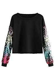 Rainbow Colorblock Sequin Pullover