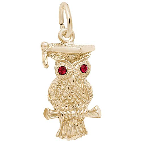 Owl Charm Rembrandt - Rembrandt Charms Owl Charm, Gold Plated Silver