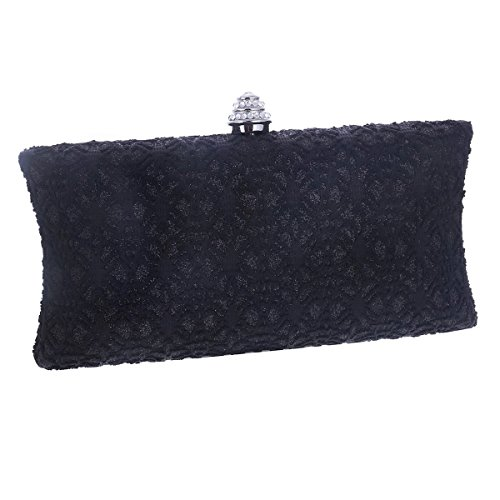 Black Lace Party Handbag Covered Damara Womens Exquisite Wedding 6qxAwp0w
