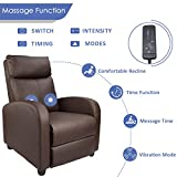 Homall Single Recliner Chair Padded Seat PU Leather Living Room Sofa Recliner Modern Recliner Seat Club Chair Home Theater Seating