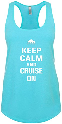 Signature Depot Junior's Funny Tank Top Size 2X (Keep Calm and Cruise On) Ladies - Usps Next Day Mail