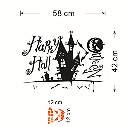 OTTATAT Wall Stickers For Living Room 2019,Halloween Devils tower