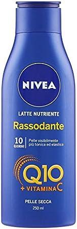 Nivea - Leche hidratante reafirmante Q10 Vitamina C, crema corporal piel seca, 250 ml