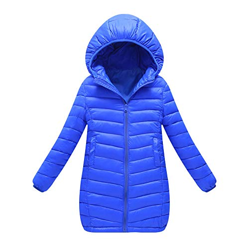 Baby Girls Long Down Coats Lightweight Outwear Winter Hooded Jackets 1-7 Years -