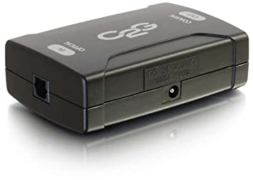 C2G Optical to Coaxial Digital Audio Converter - Adaptador para cable (Toslink, S/