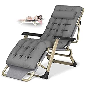 FL- Reclining Oversize Sun Lounger Chair with Cushion