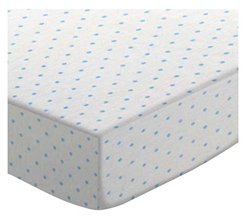 SheetWorld Fitted Cradle Sheet - Blue Pindot Jersey Knit - Made In USA