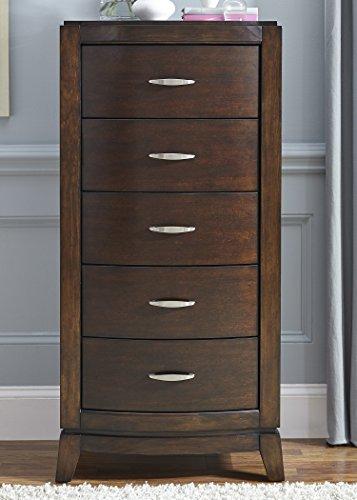 Liberty Furniture Avalon Bedroom 5-Drawer Lingerie Chest, Dark Truffle ()