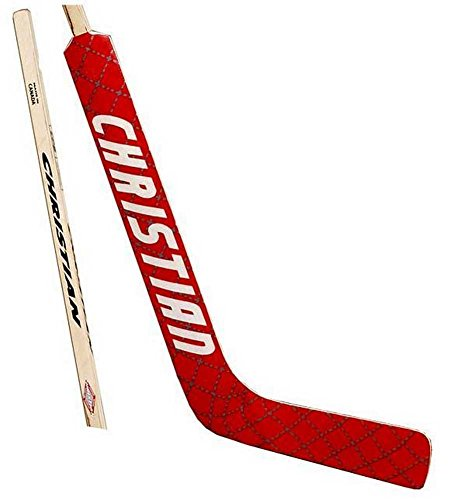 - Christian Senior Diamond Wrap Goalie Ice Hockey Stick. srdiamond-Left/Red-White