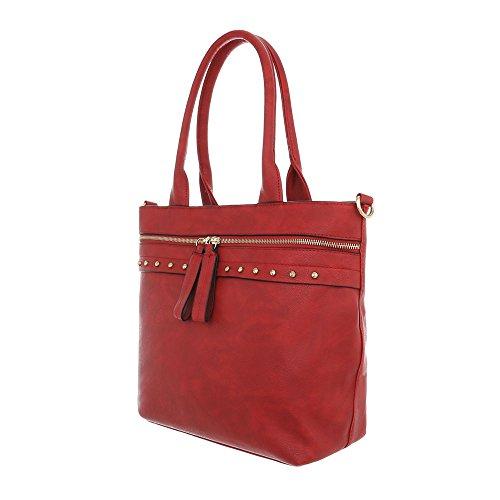 Design Ital à l'épaule à porter femme pour Sac Rouge dOOqw4FC