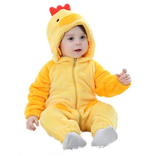 M&A Unisex Baby Romper Winter Flannel Animal Onesie Pajamas Jumpsuit Cosplay Coustumes -