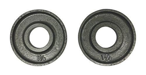 Ivanko OM-1.25 Cast-Iron, Machined Olympic Plate Grey 1.25 lbs (PAIR) by Ivanko