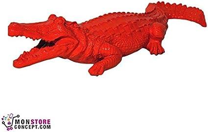 Decorazione da Giardino coccodrillo TERRAZZO PIETRA Personaggi personaggio STATUA SCULTURA 103054