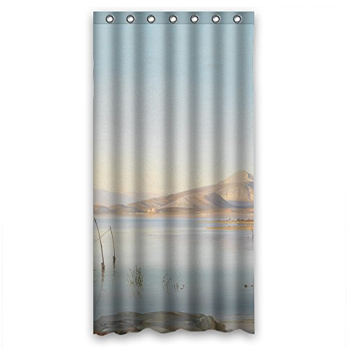 SUNSMILES Width X Height / 36 X 72 Inches / W H 90 By 180 Cm Polyester Beautiful Scenery Landscape Art Painting Bathroom Curtains Fabric Is Fit For Bf Family Artwork Kids Girl Father. Ma (Fabric Vinyl Waterproof Is)