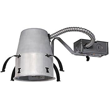 Juno Lighting IC1R LEDT24 4  IC-Rated Recessed Housing for Juno Basic Retrofits  sc 1 st  Amazon.com & Juno Lighting IC1R LEDT24 4
