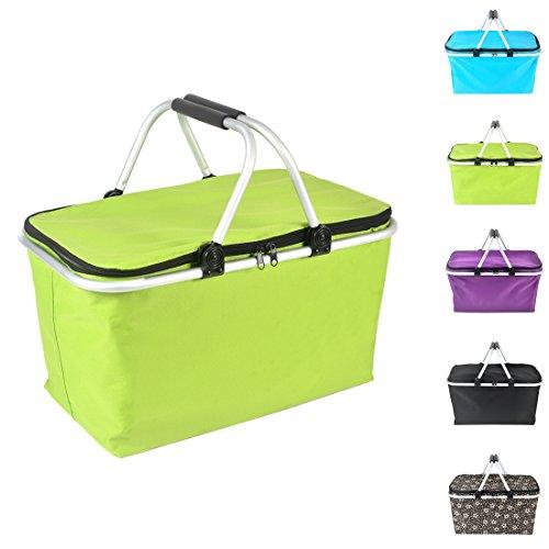 DOKEHOM DKA2002GN 32L Folding Picnic Insulated Cool Basket Bag (Green)