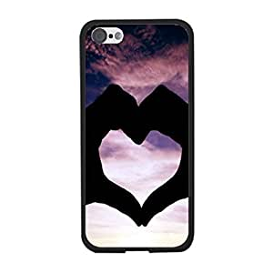 Hipster Cute Quotes Love Heart Designer Vogue Hard Plastic Back Phone Cover Case for Iphone 5c Best Gift for Girls (Colorful Clouds)