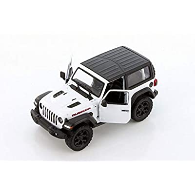 Showcasts 2020 Jeep Wrangler Rubicon Hard Top, White - Kinsmart 5412DK/WT - 1/34 Scale Diecast Model Toy Car: Toys & Games