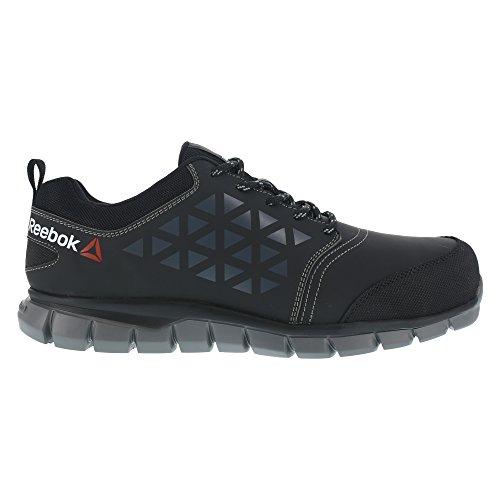 46 Athletic nbsp;46 de à chaussures Fibre nbsp;S3 orteils travail Light Aluminium nbsp;Excel Upper Noir Chaussures taille sécurité Reebok Micro Ib1032 RpUgwq8Y