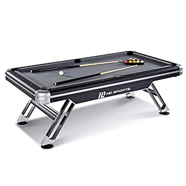 MD Sports BLL090_147M Titan Pool Table, Black, 7.5'